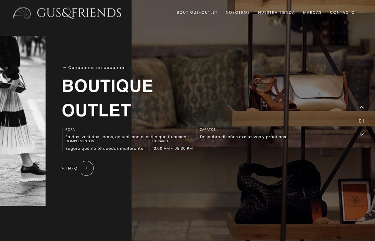 desarrollo web gusfriends, tienda en valencia